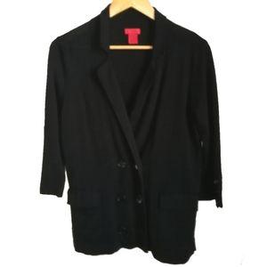Joe Fresh Black Wool Double Buttons Cardigan, sz L